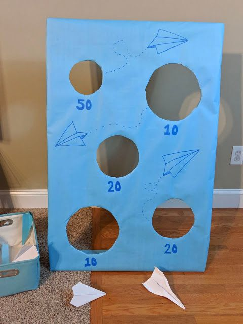 Simple Paper Airplane Birthday Party Decorations - Paper Airplane Toss Game