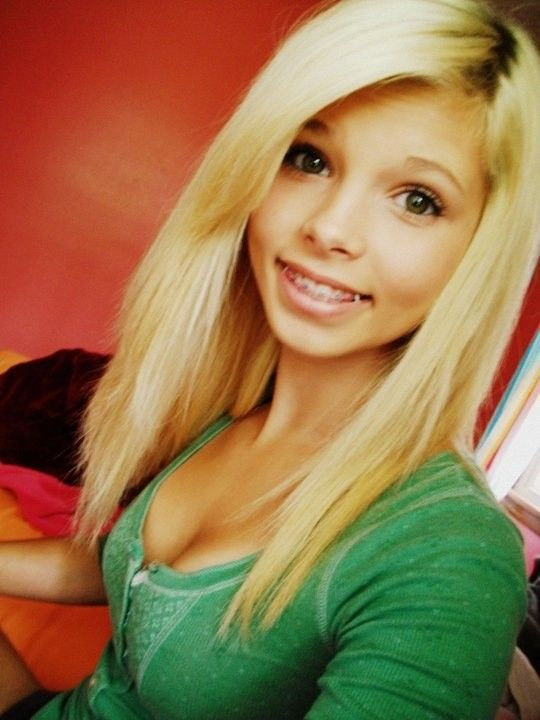 Cute long blonde hair with braces | Hair! | Pinterest ...