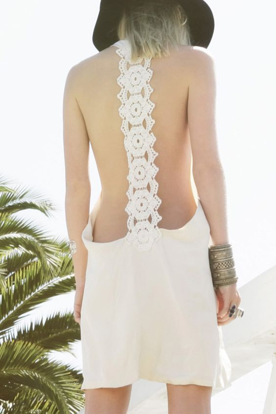 lace back: