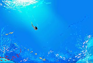So want to swim in the ocean right now! By Pascal Campion