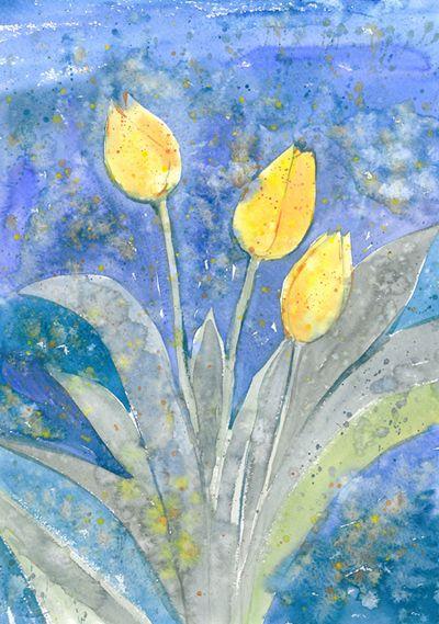 Olga Pavlova.Joy of Creation.: Late tulips