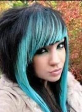 Surprising Scene Hair Blue Hair And Emo On Pinterest Short Hairstyles Gunalazisus