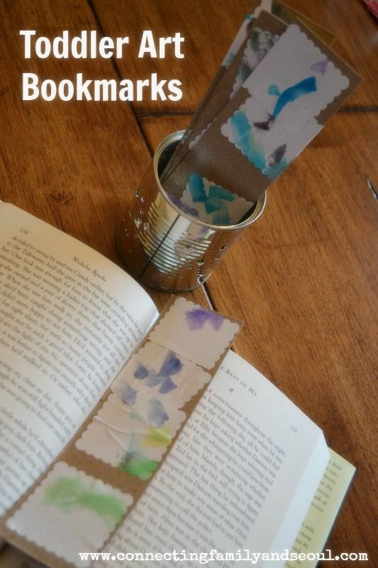 Connecting family and seoul toddler art bookmarks an for Homemade gifts from toddlers to grandparents