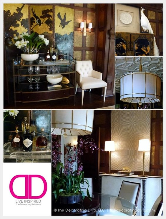 Adamsleigh Showhouse: Dining Room Design by Jeffery Muse for Baker Furniture | The Decorating Diva, LLC