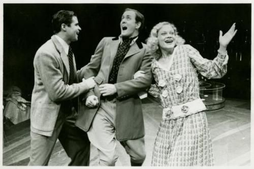"Treat Williams, John Lithgow and Deborah May in ""Once in a Lifetime""."