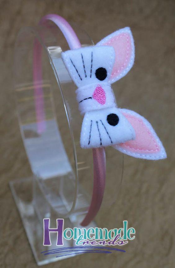Animal Hair Accessory-Bunny Accessory-Felt Bunny Bow-Rabbit Hair Accessory-Bunny Headband-Bunny Hair Clip-Easter Bunny Gift-Easter Hair - pinned by pin4etsy.com
