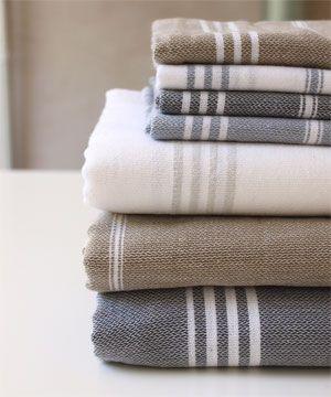We like Stripes. linen.