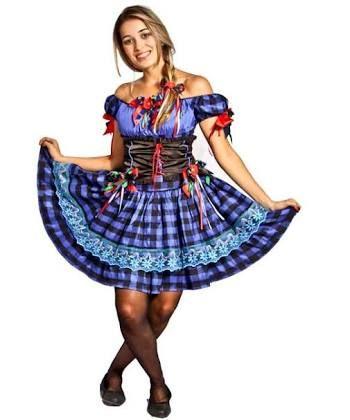 Vestido de festa junina curto