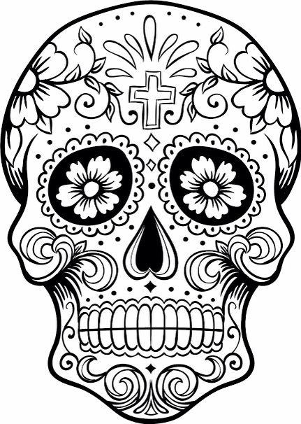 Dia De Los Muertos, Dibujos, Visuales, Noviembre, Tatuajes, Colorear, Coloración De Henna, Colorear Cráneos, Boceto Para Colorear
