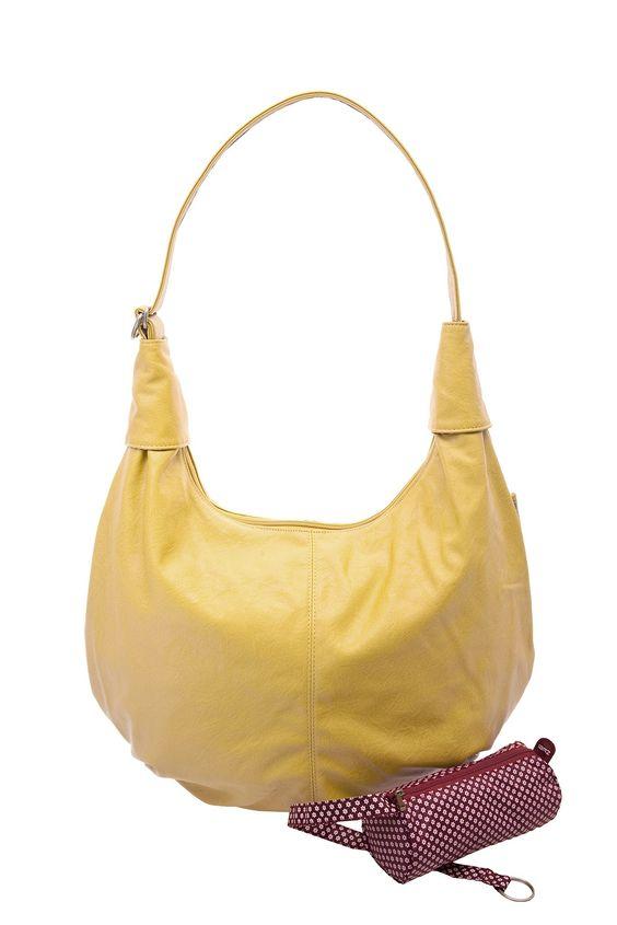 Frauentaschen :: MADEMOISELLE :: M16   ZWEI Taschen Shopper :: gelb