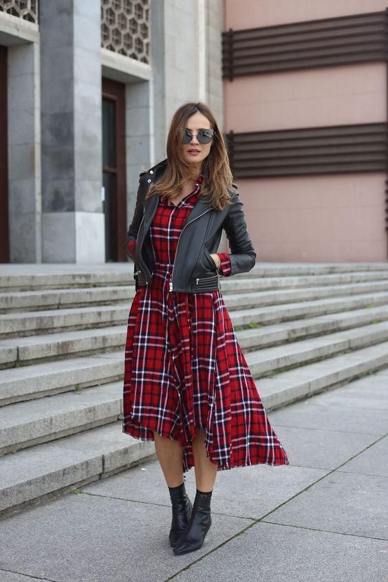 Red midi dress looks - Lady Addict