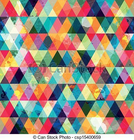 Vecteur - grunge, coloré, triangle, seamless, modèle - Banque d'illustrations, illustrations libres de droits, banque de clip art, icônes clipart, logo, image EPS, images, graphique, graphiques, dessin, dessins, image vectorielle, oeuvre d'art, art vecteur EPS