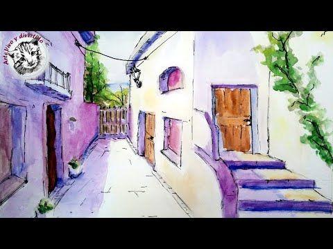 Perspectiva En Acuarela Youtube Como Pintar Acuarela Pintar