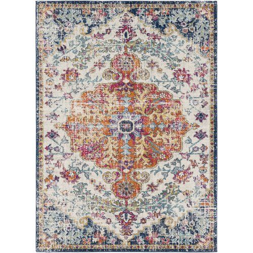 Mistana Hillsby Blue Orange Area Rug Reviews Wayfair Boho Area Rug Rugs Area Rugs