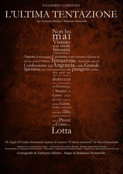 L'ULTIMA TENTAZIONE « weekendinpalcoscenico la danza palco e web   IL PORTALE DELLA DANZA ITALIANA   weekendinpalcoscenico.it