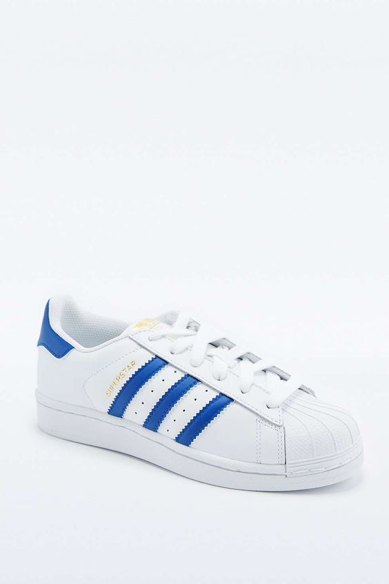 adidas Originals Blue and White Superstar Trainers - Urban Outfitters