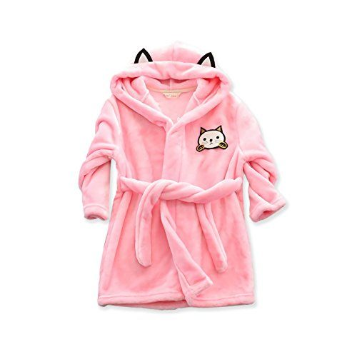 Kids Toddler Hooded Nightwear Bathrobe Towelling Hooded Bath Robe Gown Sleepwear
