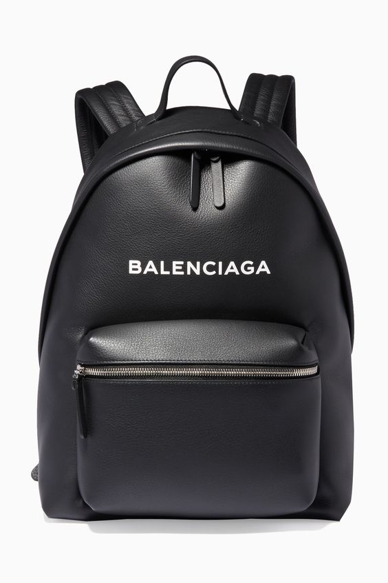 Shop Luxury Balenciaga Noir Calfskin Everday Backpack | Ounass UAE
