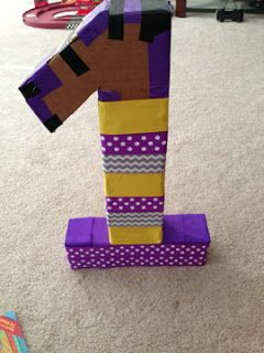 How to make a 3D number from cardboard and ribbon ...
