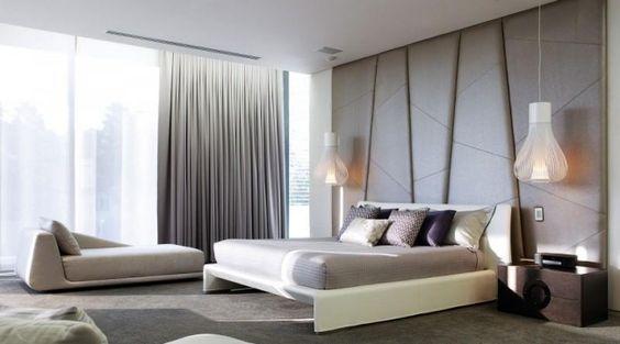 wohnideen schlafzimmer modern pastellfarben polster kopfbrett - schlafzimmer modern bilder