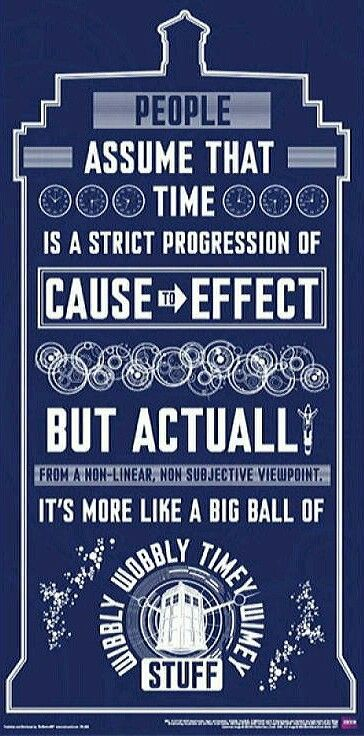 Tardis - Doctor Who quote. I like how he starts out all smart and then it devoles into nonsense.: