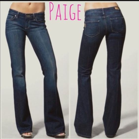 "Paige premium denim Boot cut Paige jeans, size 28 waist. I put an S on the inner tag for "" short"" because I had them hemmed ( with original hems reattached) so I could wear with flats. Inseam is 29"" Paige Jeans Jeans Boot Cut"