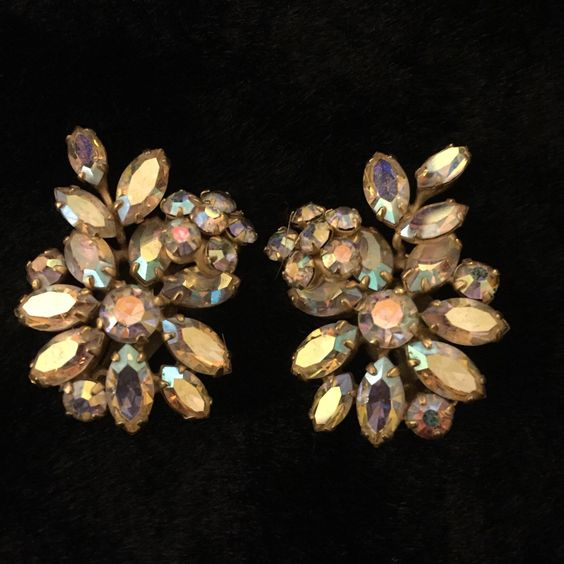 A personal favorite from my Etsy shop https://www.etsy.com/ca/listing/266161488/vintage-sherman-rhinestone-clip-on