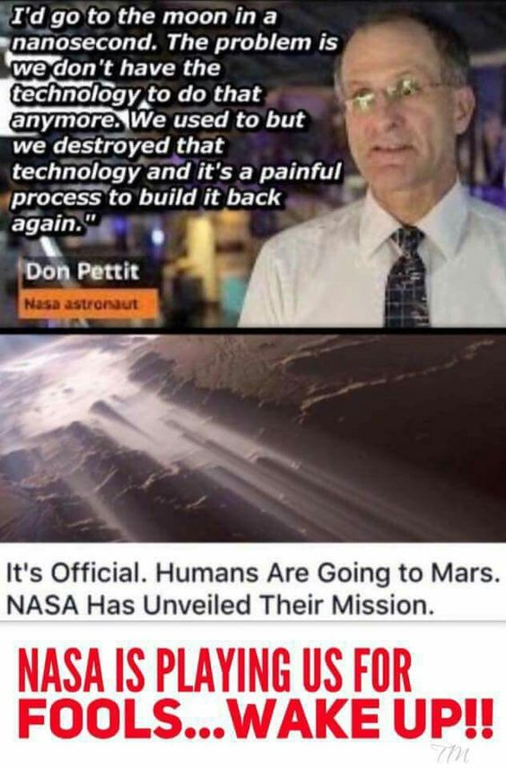 If we can't even go to the moon then how on earth are we going to go too mars ?!‍♂️
