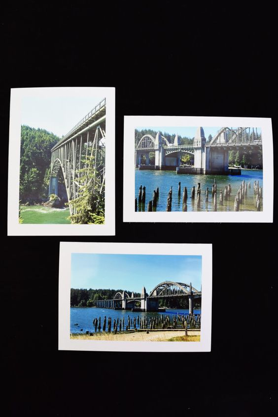 Bridge Photo Cards Set of 20 Bridge Greeting by MitchiesGalleria