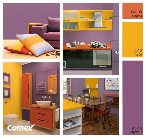 El color lavanda acompa ado de colores contrastantes - Decoracion para el hogar ...