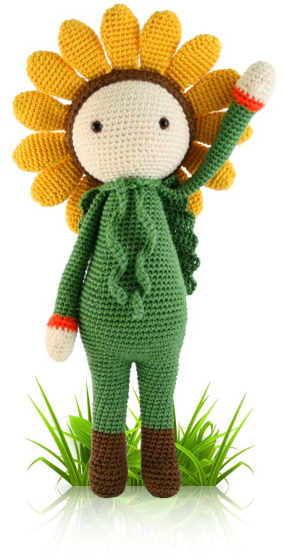 Sunflower Sam - crochet amigurumi pattern by Zabbez / Bas den Braver