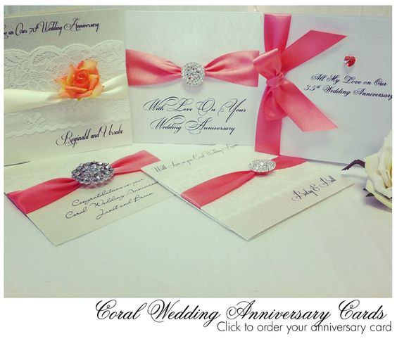 35th Wedding Anniversary Gift Ideas Uk : ... selection of Coral Wedding Cards pefect for 35th Wedding Anniversary
