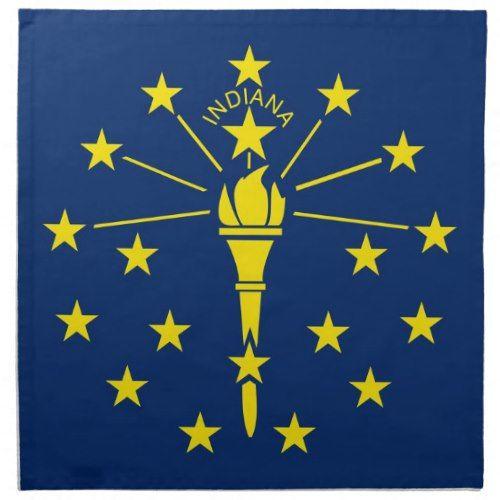 Indiana State Flag American Mojo Napkin Indiana Flag Indiana