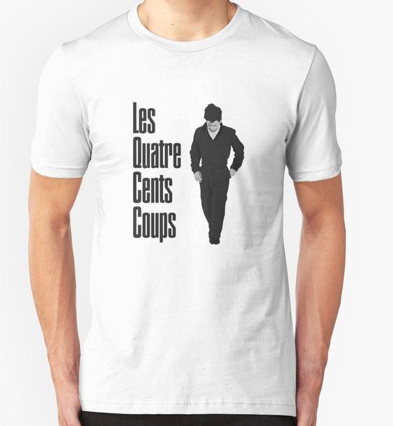 Les Quatre Cents Coups - The 400 Blows, Sie küssten und sie schlugen ihn, François Truffaut, Nouvelle Vague, Jean-Pierre Léaud, french cinema, antoine doinel, Cannes T-Shirt Design von adriangemmel