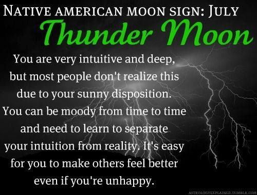 Native American Moon Sign - Thunder Moon