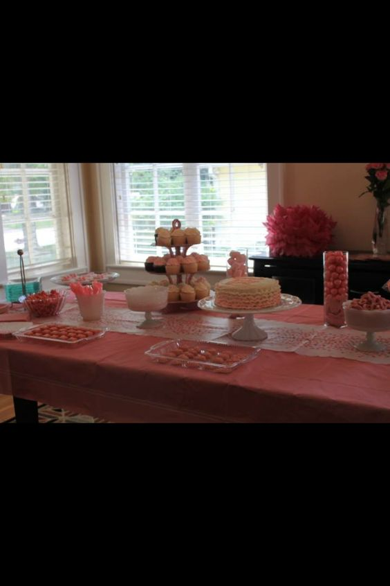 Baby shower sweets buffet. -Devlin Baked Goods