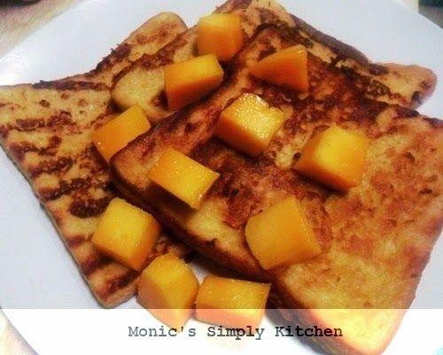Cara Membuat French Toast Mangga Roti Panggang Toast Cheddar