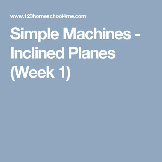 Simple Machines - Inclined Planes (Week 1)