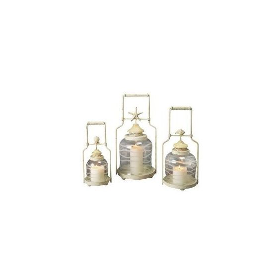 Shell Lanterns - Set of 3 : Target ($140) ❤ liked on Polyvore