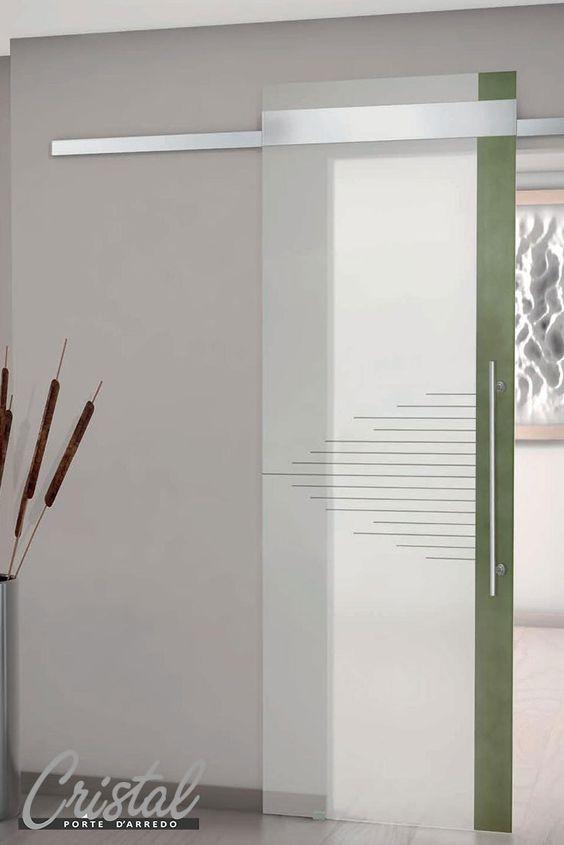 Betonica: la porta in vetro stratificato cristal nel modello ...