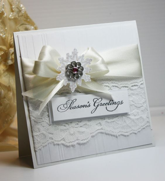 Inspired and Unscripted: Elegant Christmas Card