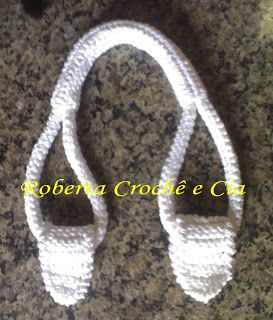 Crochet purse handles tutorial  Addendum:   Change color each row for striped effect.  Use twine in center when closing it to provide more support (stops the stretch)