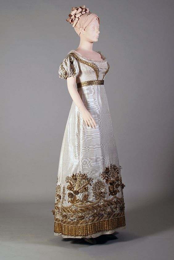 Gold embroidery on a court dress and train | Kent State University Museum