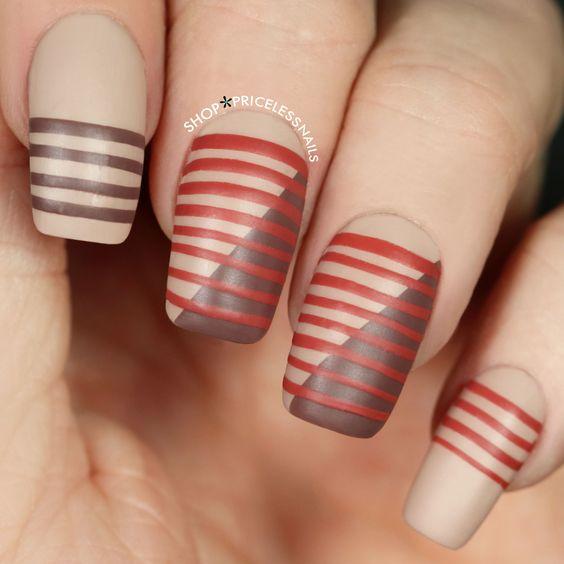 Striped fall mani! ✨