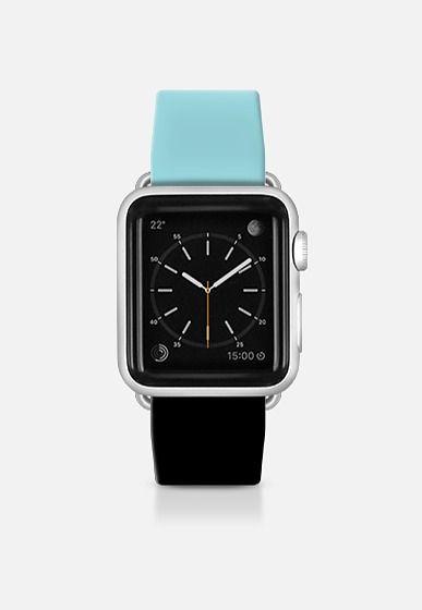 Blue and black watch Apple Watch Band (38mm) by Yasmina Baggili | Casetify