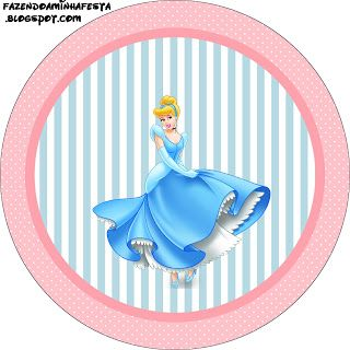 Cinderella - Full Kit with frames for invitations, labels for goodies, souvenirs and pictures!   Making Our Party