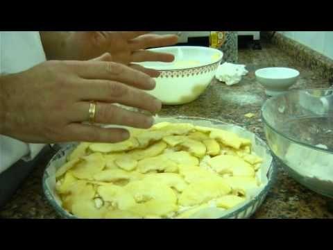 Como hacer tarta de manzana - YouTube