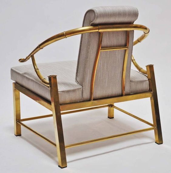 Beautiful Mastercraft Furniture For Sale #7: View This Item And Discover Similar Armchairs For Sale At - Beautiful Pair Of Brass And Upholstered Chairs By Mastercraft. Newly Upholstered.