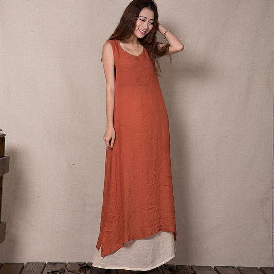Casual Loose Dress Long Maxi Dress  Summer by FashionBeautyStreet, $57.00