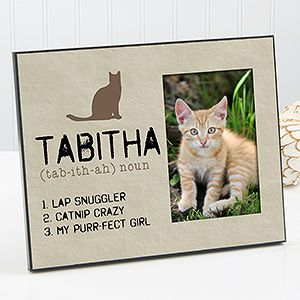 Show your love for your pet with the Definition of My Cat Personalized Picture Frame. Find the best personalized pet gifts at PersonalizationMall.com